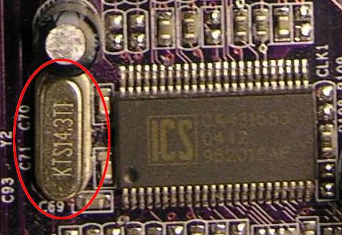 کریستال نوسانساز برای تولید کلاک پالس – مادربورد کامپیوتر